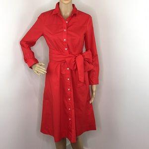 J. Crew Red Shirt Dress